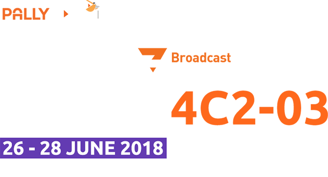 meet PallyCon at BroadcastAsia2018